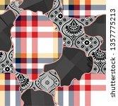 seamless patchwork  background...   Shutterstock .eps vector #1357775213