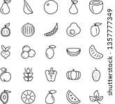 thin line vector icon set  ... | Shutterstock .eps vector #1357777349
