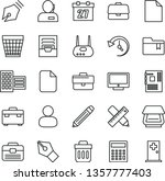 thin line vector icon set  ... | Shutterstock .eps vector #1357777403