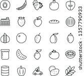 thin line vector icon set  ... | Shutterstock .eps vector #1357790933