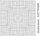black and white line fabric...   Shutterstock . vector #1357794389