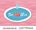 red smoothie strawberry... | Shutterstock .eps vector #1357799243
