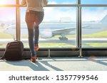 woman passenger tourist or... | Shutterstock . vector #1357799546