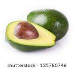 Fresh Avocado Isolated On Whit...