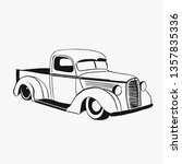 retro car truck illustration  | Shutterstock . vector #1357835336