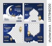 ramadan sale social media post... | Shutterstock .eps vector #1357848200
