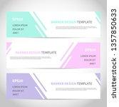 banners vector design or... | Shutterstock .eps vector #1357850633