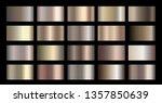 metallic  bronze  silver  gold  ...   Shutterstock .eps vector #1357850639