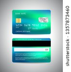 vector credit card. front and...   Shutterstock .eps vector #1357873460