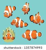 Cute Clownfish Various Poses...