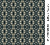 colorful seamless ikat persian... | Shutterstock . vector #1357876190