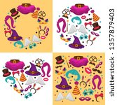 costumes carnival or halloween... | Shutterstock .eps vector #1357879403