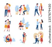 relationship and marriage date... | Shutterstock .eps vector #1357879430