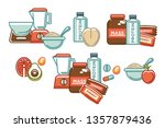 sport nutrition and healthy... | Shutterstock .eps vector #1357879436