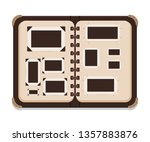 vintage open photo album page... | Shutterstock .eps vector #1357883876