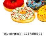 sweet tasty donuts with... | Shutterstock . vector #1357888973
