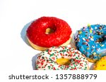 sweet tasty donuts with... | Shutterstock . vector #1357888979