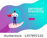 vector web page template for...   Shutterstock .eps vector #1357892120