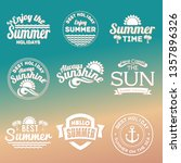 summer labels  logos  hand... | Shutterstock .eps vector #1357896326