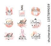 nail studio logo design set ... | Shutterstock .eps vector #1357899059