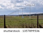 the approach lighting system of ... | Shutterstock . vector #1357899536