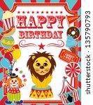 Happy Birthday Card Circus...