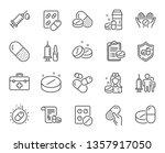 medical drugs line icons.... | Shutterstock .eps vector #1357917050
