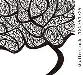 tree illustration   Shutterstock . vector #135791729