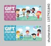 gift voucher template with... | Shutterstock .eps vector #1357931840