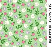 gardening seamless pattern with ... | Shutterstock .eps vector #1357934510