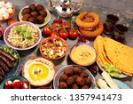 middle eastern or arabic dishes ... | Shutterstock . vector #1357941473