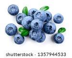 blueberries. blueberry isolate... | Shutterstock . vector #1357944533