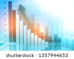 finance background with... | Shutterstock . vector #1357944653