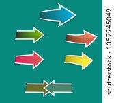 colorful arrows sticker | Shutterstock .eps vector #1357945049