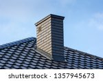 Chimney and roof of modern...