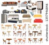 house furniture set | Shutterstock .eps vector #1357946846