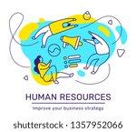 vector business illustration of ... | Shutterstock .eps vector #1357952066