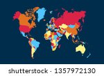 color world map vector | Shutterstock .eps vector #1357972130