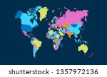 color world map vector | Shutterstock .eps vector #1357972136