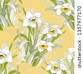 seamless pattern with white...   Shutterstock . vector #1357977170