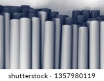 metal pipes  stand upright.... | Shutterstock . vector #1357980119