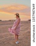 deserted beauty. girl  woman in ... | Shutterstock . vector #1357987649