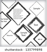 abstract grunge geometrical... | Shutterstock .eps vector #135799898
