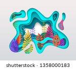spring summer autumn... | Shutterstock .eps vector #1358000183