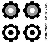 gears icon isolated group in...