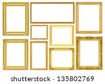 the antique gold frame on the... | Shutterstock . vector #135802769