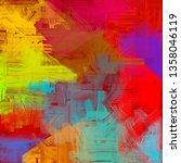 abstract texture. 2d... | Shutterstock . vector #1358046119
