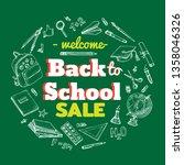 back to school sale vector...   Shutterstock .eps vector #1358046326