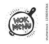 wok menu. traditional chinese... | Shutterstock .eps vector #1358054366