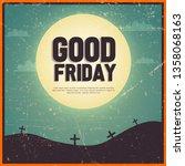 good friday vector illustration ... | Shutterstock .eps vector #1358068163